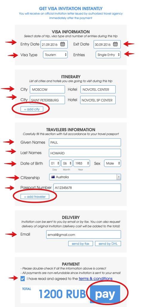 Visa Order Russian Business Visa 10