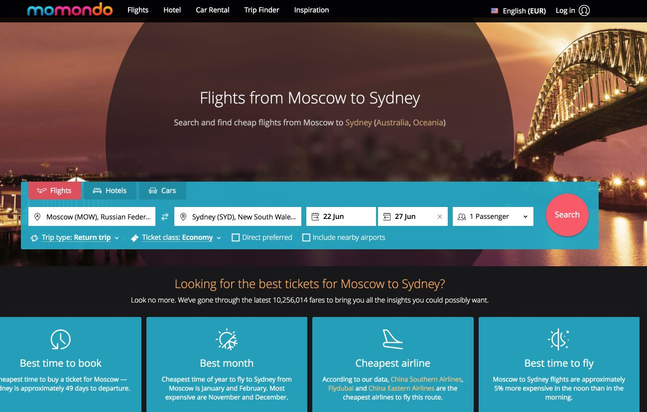 Moscow to Sydney flights - momondo