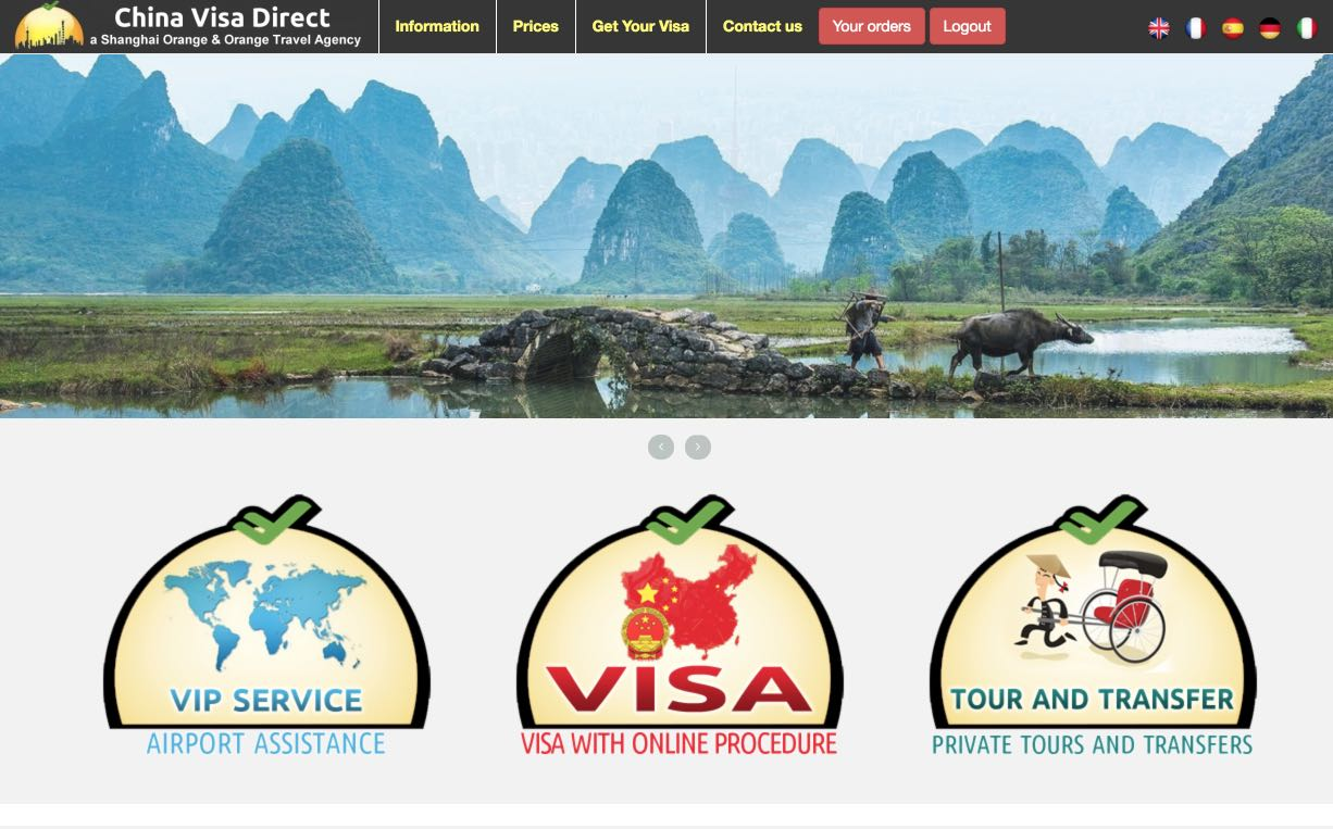 China Visa Direct Website