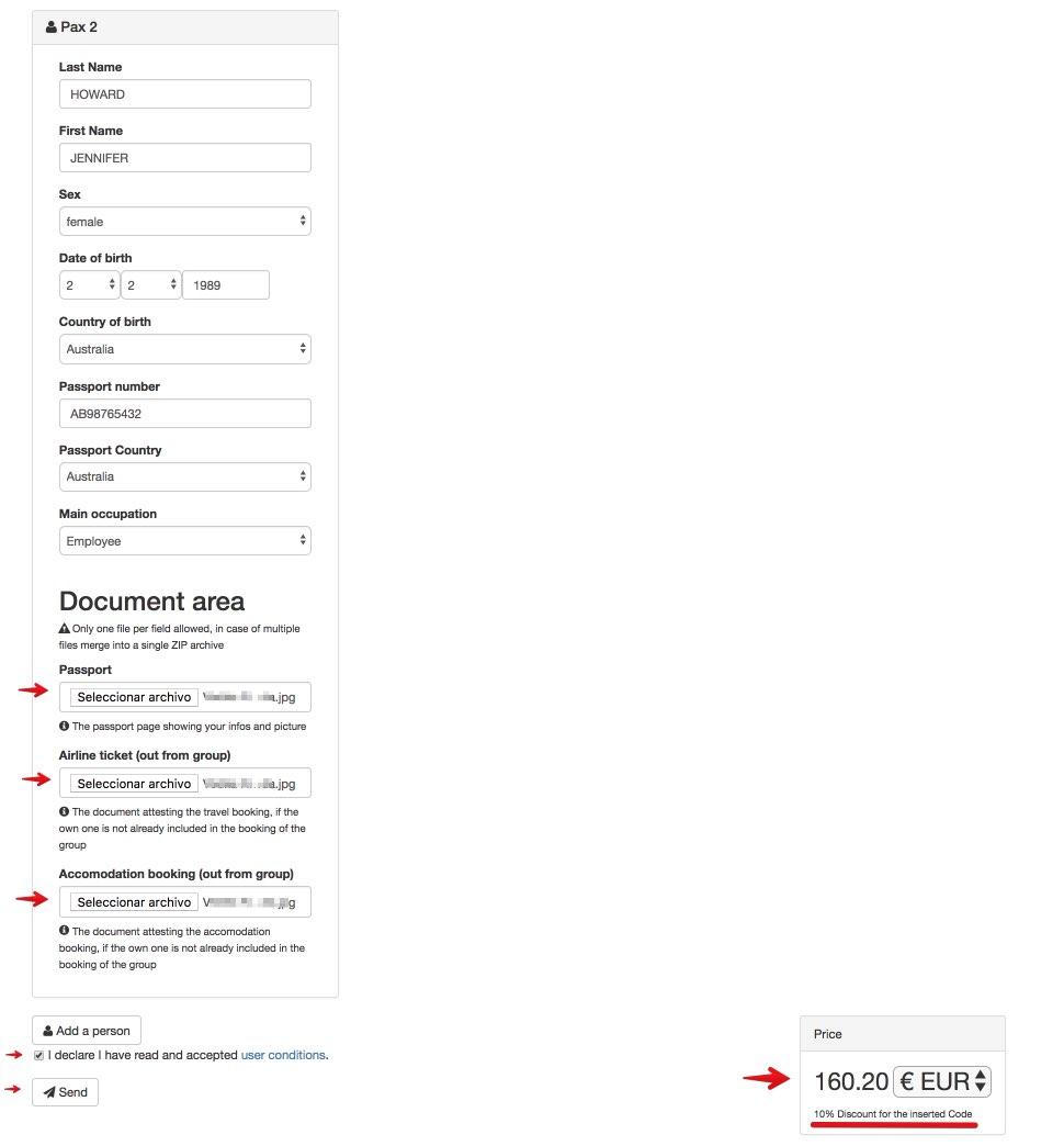 Chinese visa online - Step 4